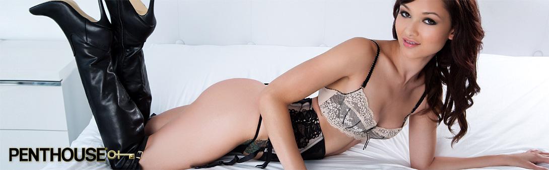 Penthouse lingerie model